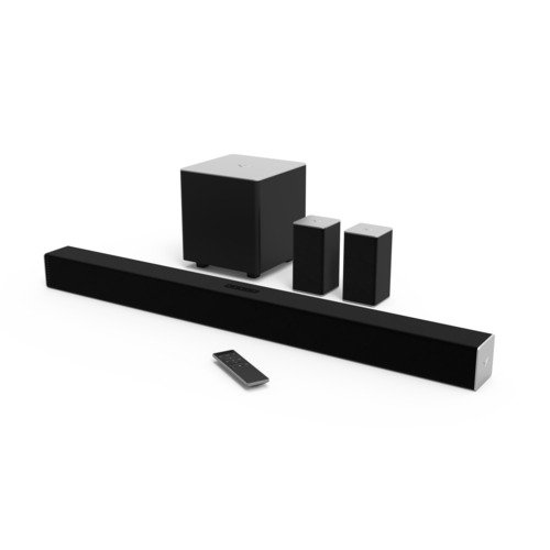 speakers for tv. vizio sb3851-c0 38-inch 5.1 channel sound bar with wireless subwoofer and satellite speakers for tv a