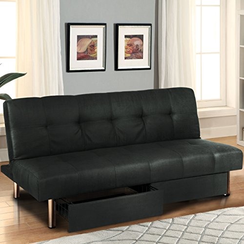 This Trendy Piece Stands Out Among The Other Futons For The Storage Space  It Provides. It Has Two Pull Out Drawers Underneath That Are Ideal For  Magazines, ...
