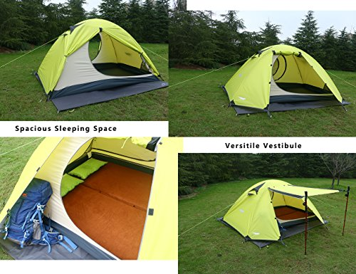 2. Luxe Tempo 2 Person 4 Season Tent & The Ten Best 2 Person Tents for Camping in 2018 - Top Ten Select