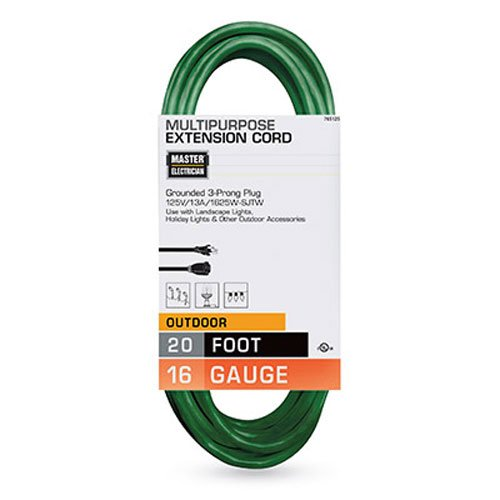 Top 10 best outdoor extension cords in 2018 top ten select master electrician 20 ft landscape outdoor extension cord 163 vinyl green aloadofball Choice Image