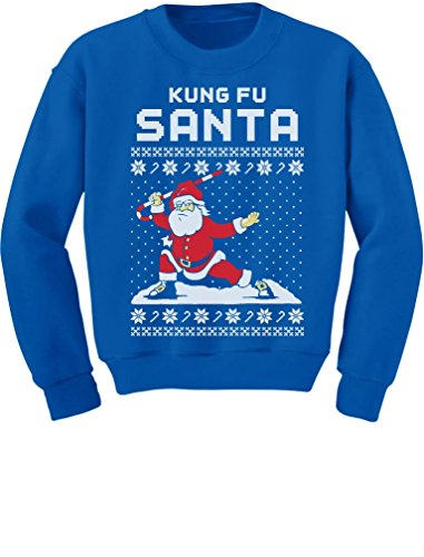 teestars kung fu santa ugly christmas sweater funny kids sweatshirt
