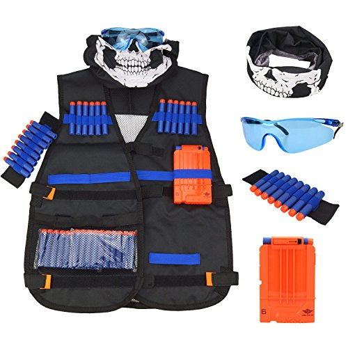 great for children ages 5 and up this tactical kit is everything an active boy could dream of it is designed to be used alongside a childs nerf gun or