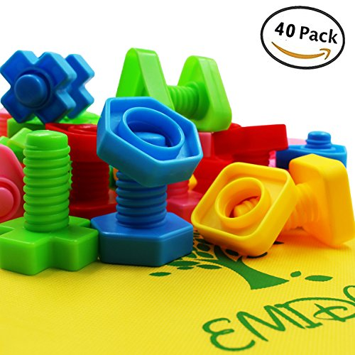 This Set Of Jumbo Sized Plastic Nuts And Bolts Is A Great Choice For The Child Who Enjoys Making Building Things Toy