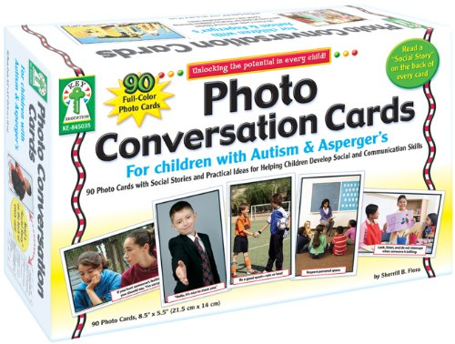 Photo Conversation Cards Are Ideal For The Child Who Is Non Verbal Has Selective Mutism Receiving Therapy A Speech Impediment Or They Can Simply Be
