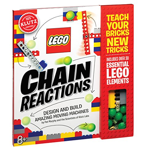 klutz is a well known brand of book based activity kits that encourage creativity the klutz lego chain reactions craft kit is a great toy for kids