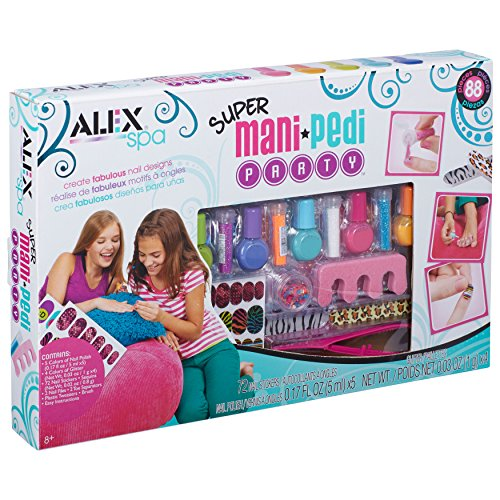 The Alex mani-pedi kit is a creative way for your eight-year-old to express her individuality. It features 88 pieces, all the essentials for manicures and ...