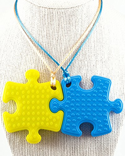 Chewelry Jewelry That Is Designed For Chewing Makes A Great Gift Kids Who Need To Chew These Cute Silicone Puzzle Piece Necklaces Satisfy Both The
